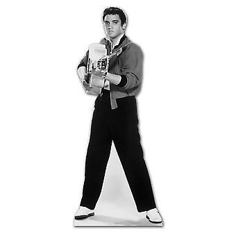 Elvis, atirando com guitarra - recorte de papelão Lifesize / cartaz