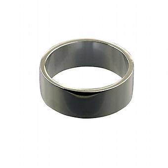 Platin 8mm deutlich flacher Ehering Größe Z