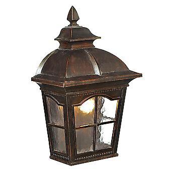 Pompei parete esterna marrone lanterna luce - Searchlight 1576BR