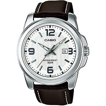 جمع كاسيو الخطة المتوسطة الأجل-1314PL-7AVEF، ساعة اليد، والرجل الأبيض (الأبيض/براون)