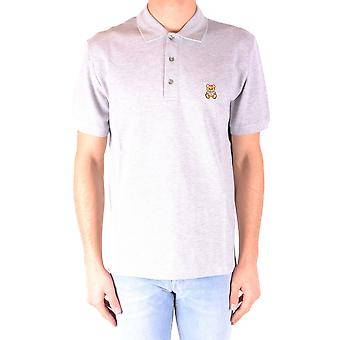 Moschino Ezbc015025 Männer's grau Baumwolle Polo Shirt