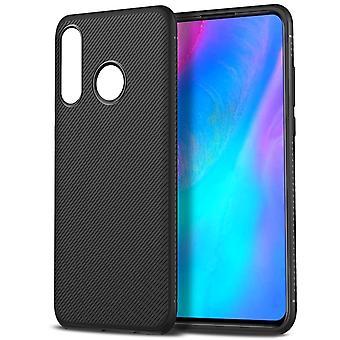 Huawei P30 Lite Twill Texture TPU Shell-Black