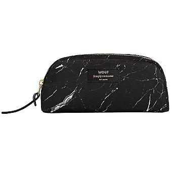 Wouf Black Marble Beauty Make Up Bag