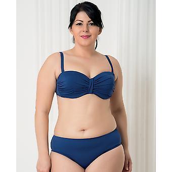 Aqua Perla - Womens -harmony - Blue- Plus Size- Bikini Top