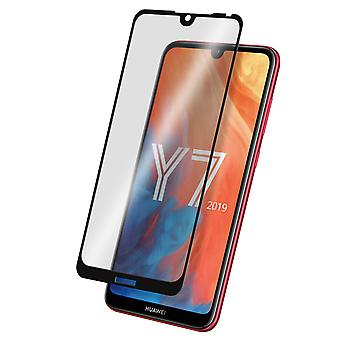 Screen protector for Huawei Y7 2019, Tempered Glass with black edges