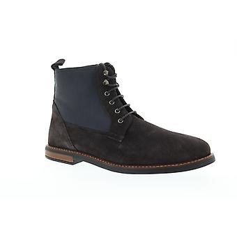 Ben Sherman Brent Plain Toe  Mens Gray Suede Lace Up Casual Dress Boots