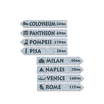 Italian Street Sign Cutouts