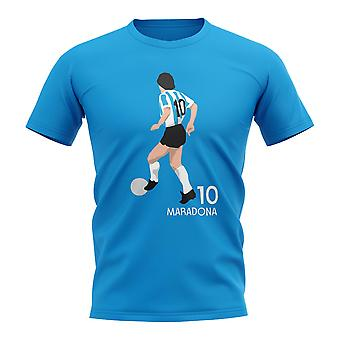 Diego Maradona Argentina Player Graphic T-Shirt (Sky Blue)