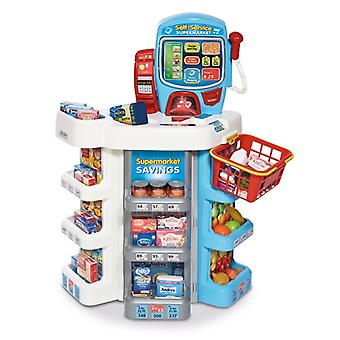 Casdon Little Shopper Self-Service Supermarket With Branded Play Food Pretend