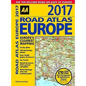 AA Road Atlas Europe 2017 - 9780749577919 Book