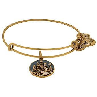 Alex and Ani Charity By Design Sand Castle EWB Bangle Bracelet  - CBD17SCRG