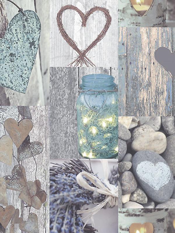 Rustic Heart Wallpaper Natural Arthouse 669600
