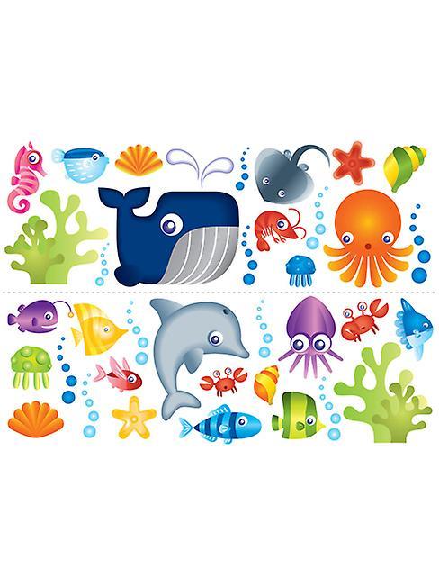 Under the Sea Stikaround Wall Stickers - 35 Pieces