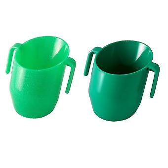 Doidy Cup Bundle - Green Sparkles And Solid Green - 2 Items Supplied