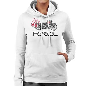 Route 66 The Mother Road Motorcycle Women's Hooded Sweatshirt