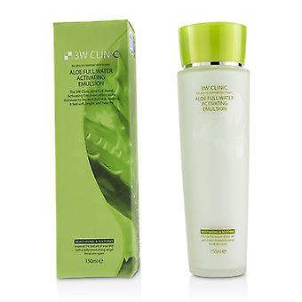 3W Klinik Aloe voll Wasser Aktivierung Emulsion - für trockene bis normale Haut Typen 150ml / 5oz