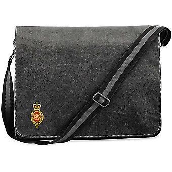 Royal Horse Guards Cypher - Licensed British Army Embroidered Vintage Canvas Despatch Messenger Bag