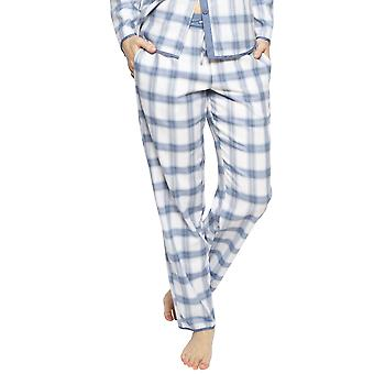 Cyberjammies 4241 kvinnor ' s Harper Blue mix kontrollera bomullspyjamas byxa