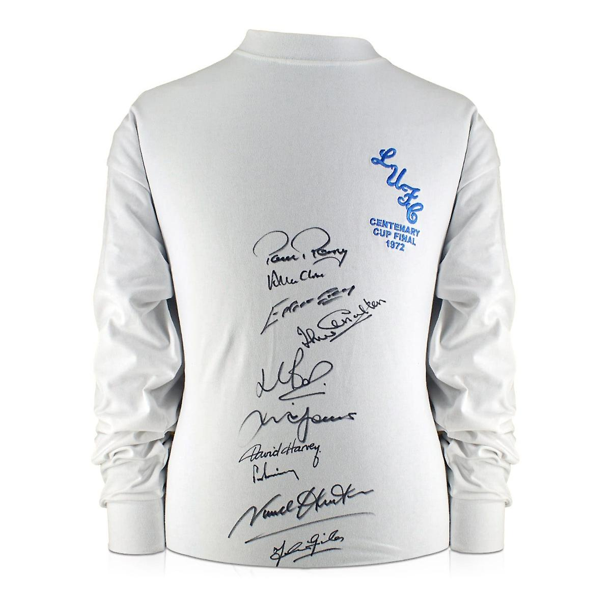 Leeds United FA Cup Shirt Signed By Ten Of The 1972 Squad In Gift Box