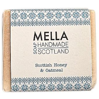 Scottish Honey & Oatmeal Soap Bar - Mella Handmade Soaps Shetland