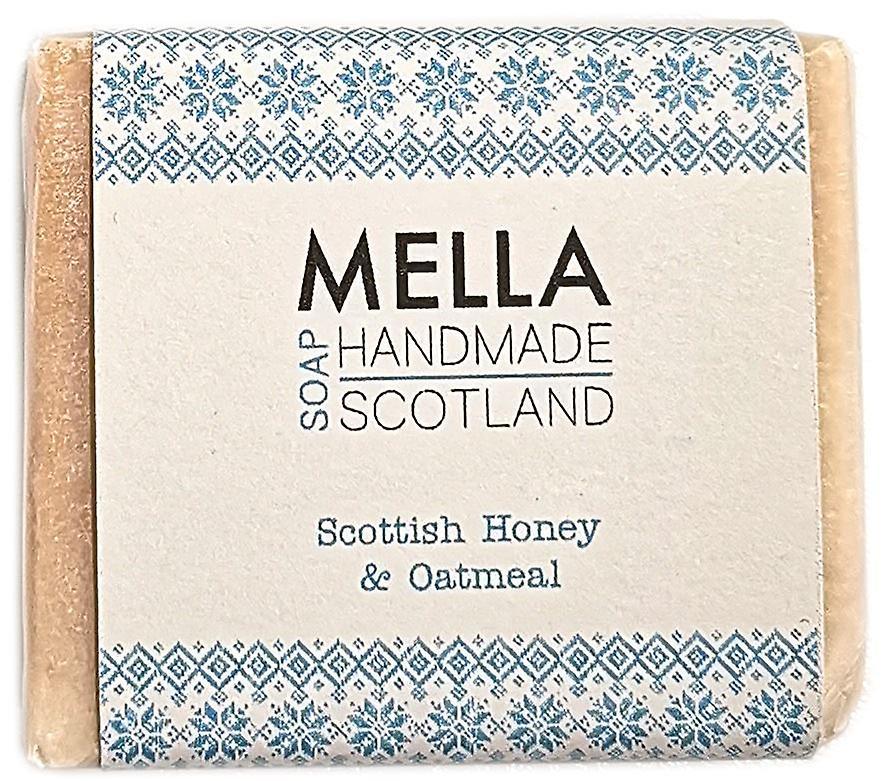 Scottish Honey & Oatmeal Soap Bar - Mella Handmade Soaps Shetland