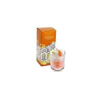 Bomb Cosmetics Piped Glass Candle - Peach Bellini