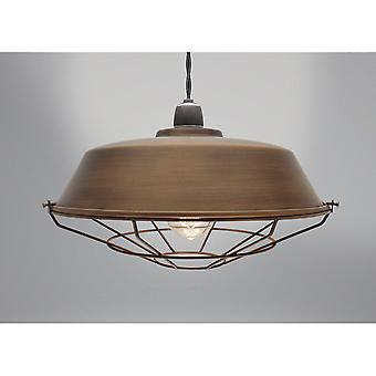 Country Club Vox Light Fitting, Antique Brown 36cm