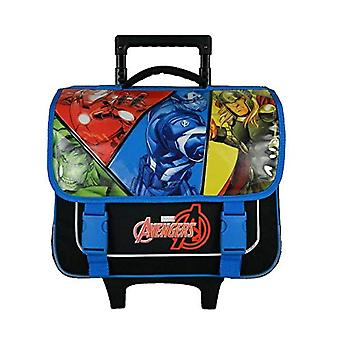 Bagtrotter AVNI18COMI Avengers Comi Trolley for School - size-38 x 14 x 33 cm - Color-Blue