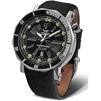 Vostok-Europe Men's Watch Lunokhod 2 Automatic NH35A-6205210 Leather Strap