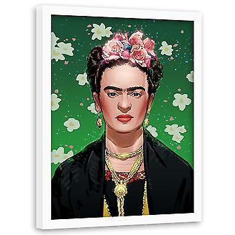 Foto in zwart frame, Mexicaanse schilder