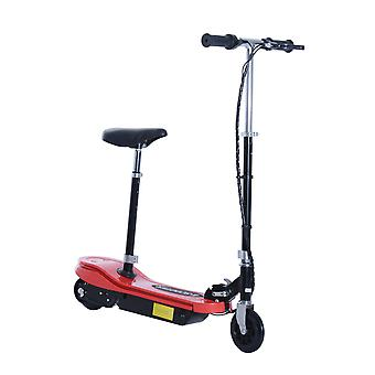 HOMCOM 120W Kids E Scooter Ride on Folding Electric Bike Children Sports Toy Height Adjustable w/ 2 12V Rechargeable Battery (Red)