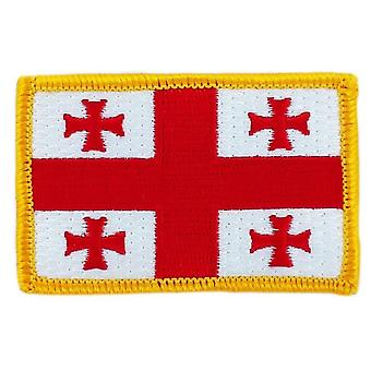 Patch Patch Brode Flag Georgien Thermocollant insigne Blason