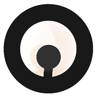 Absolute wandarmatuur circle zwart 751 F lamp