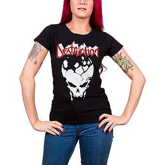 Destruction T Shirt Established 84 Band Logo Official Womens Skinny Fit Black