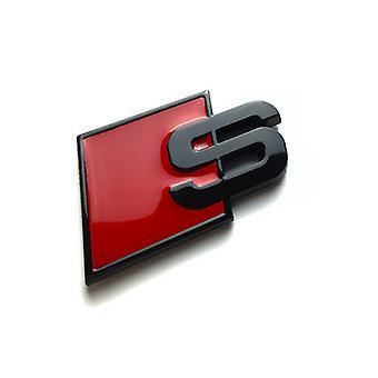 Gloss Black Audi S Badge Boot Side Wing Fender Badge Emblem For A1 S1 A3 S3 RS3 A4 S4 RS4 A5 S5 RS5 A6 S6 RS6 A7 S7 RS7 A8 S8 RS8 Q2 Q3 Q5 Q7 Q8 TT R8
