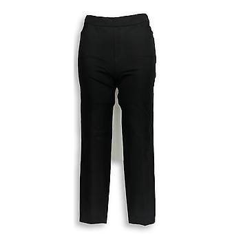 Isaac Mizrahi Live! Women's Petite Pants 2 24/7 Stretch Black A350689