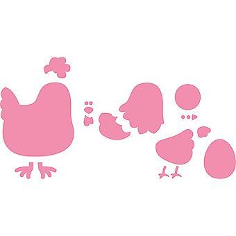 Marianne Design Mother Hen Collectables Cutting Die Set, Pink