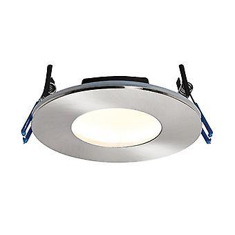 Saxby Lighting Orbitalplus Fire Rated Integrated LED 1 Light Bathroom Recessed Light Satin Nickel Plate IP65 69881