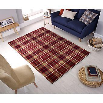 Highland tartans rode rechthoek tapijten Plain/bijna effen tapijten