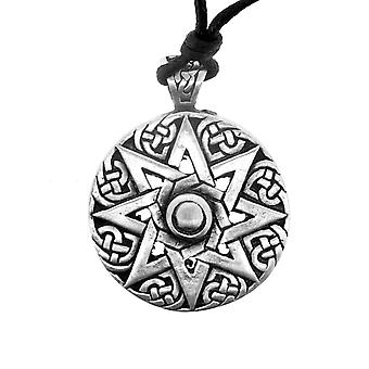Celtic Eternity Knotwork Unisex Pewter Necklace Pendant - Evolving Knot