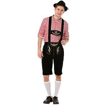 Oktoberfest Lederhosen Halloween Costume, X-Large