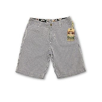 Tailor Vintage striped shorts in white and navy