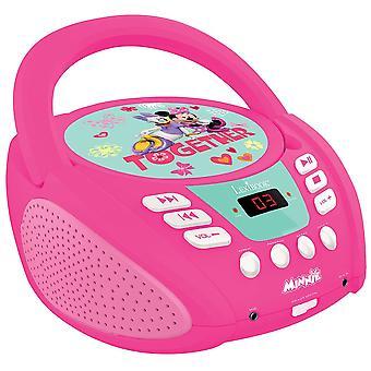 レキシブック ディズニー ミニー ブームボックス ラジオ CD プレーヤー (RCD108MN)