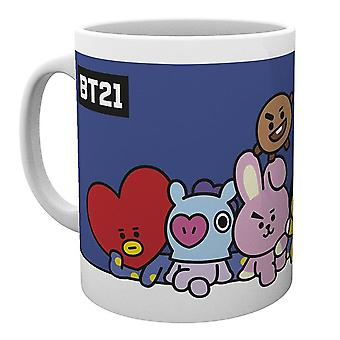 BT21 Tasse Gruppe  weiß, bedruckt, 100 % Keramik, Fassungsvermögen ca. 300 ml.
