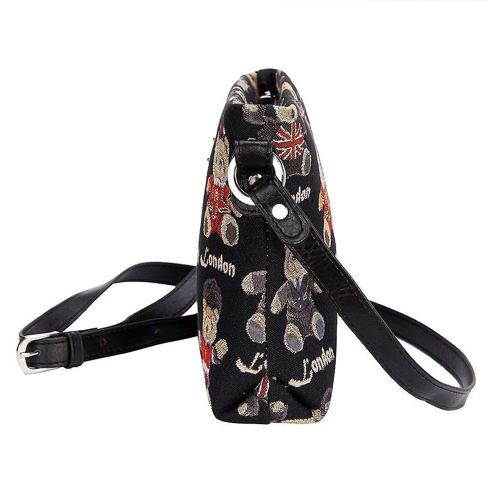 London bear cross body shoulder bag by signare tapestry / xb02-lnbe