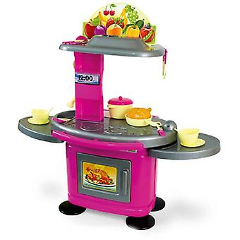 Mochtoys children's kitchen 78 cm 10500 in pink with stove, oven, music and light