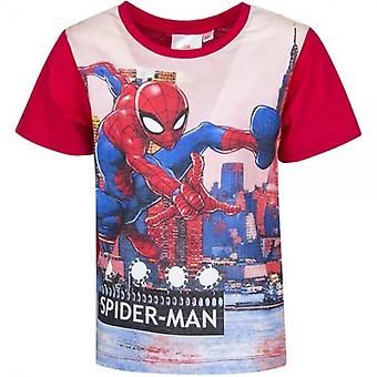 T-shirt Spiderman Red Sleeves