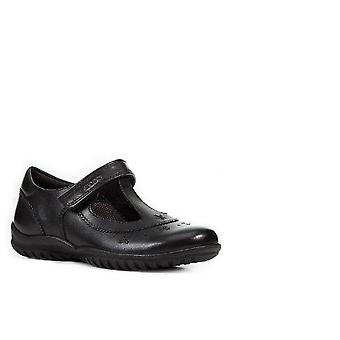 Geox J Shadow Girls C Touch Fastening Leather Shoe
