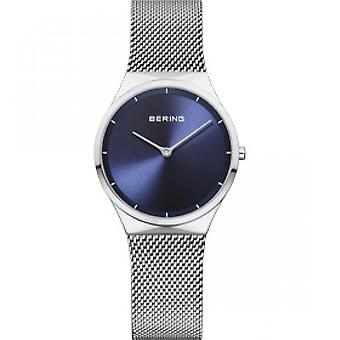 12131-008 - Uhr stahlblauen Armband Netz Mailänder Frau Bering Classic zu sehen