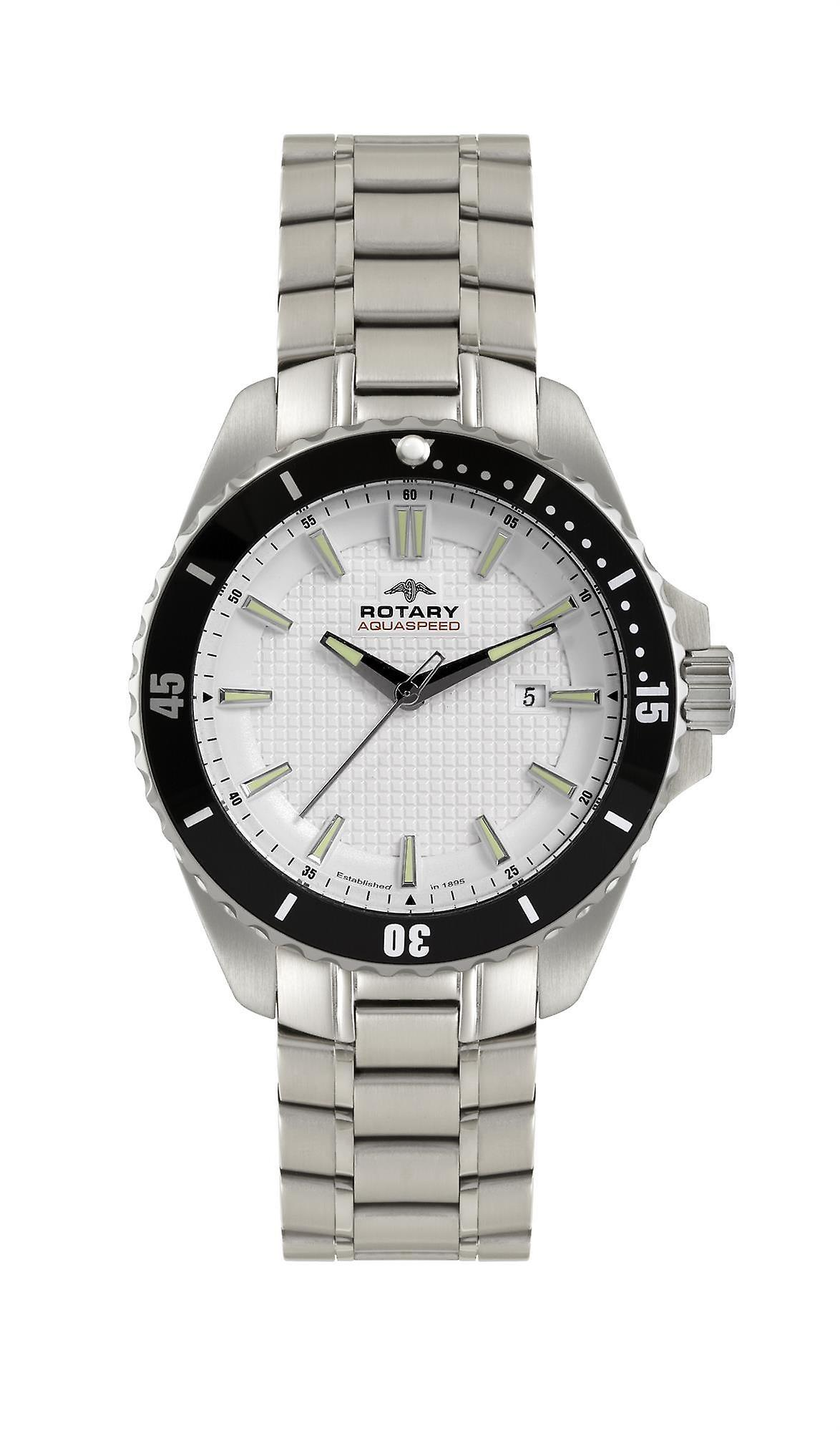 Rotary Aquaspeed Stainless Steel Men's Watch